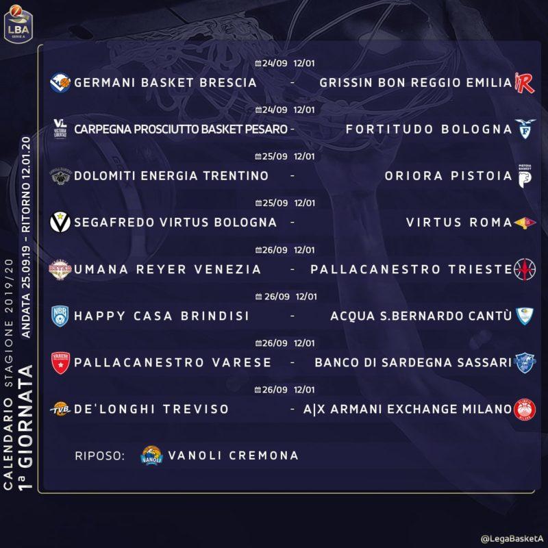 Calendario 31 Luglio 2019.Virtus Segafredo Presentato Il Calendario Di Serie A Della